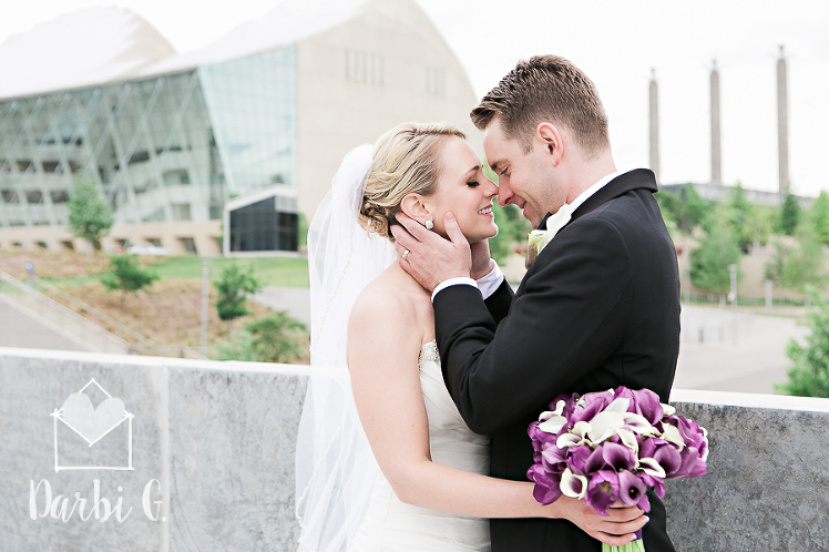 Kauffman downtown wedding Kansas City