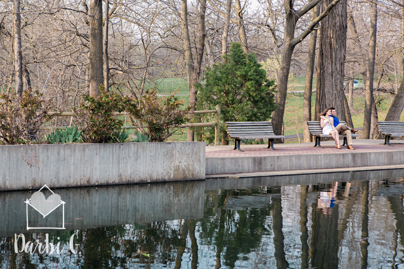 Overland Park Engagement photos  at Antioch PArk