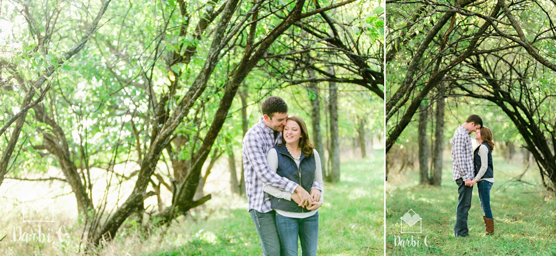 Kansas rural farm land engagement photos by darbi g photography