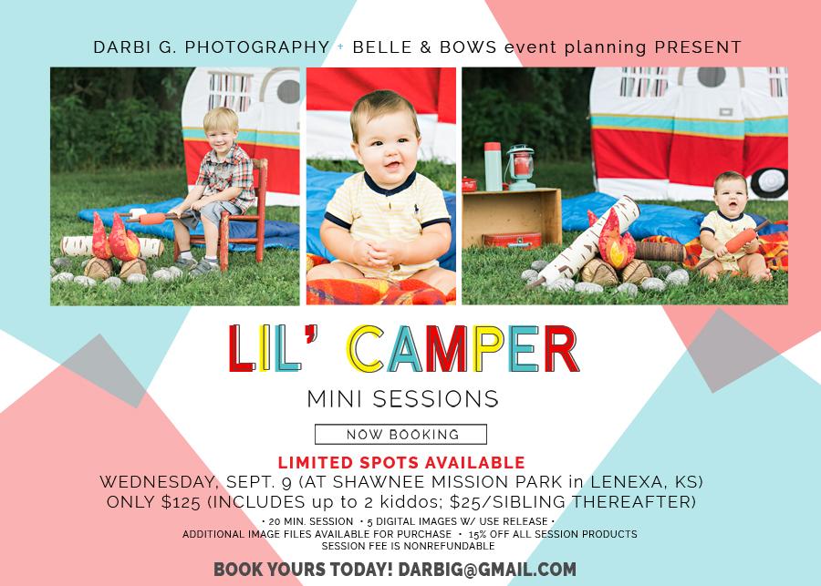 Back to school mini session  Lil camper themed Darbi G Photographer