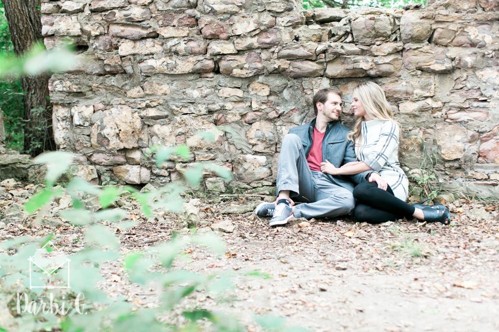 Lenexa wedding engagement photographer Shawnee Mission Park
