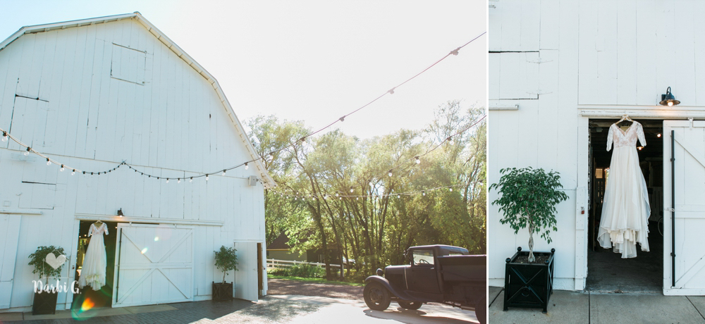Fall wedding at Fresh Air Farms barns