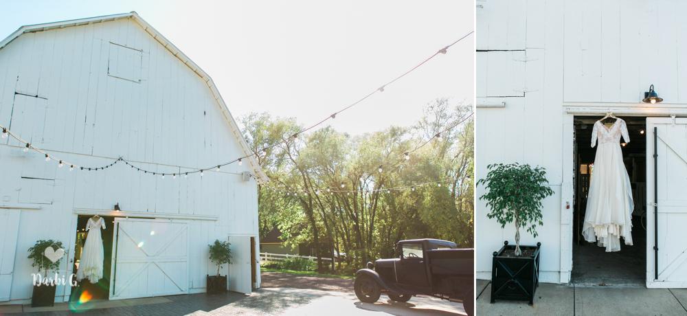 Fall wedding at Fresh Air Farms barns