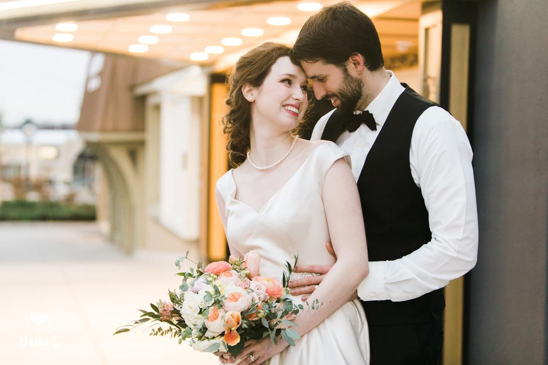KC wedding bride and groom
